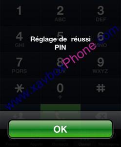 changement code pin iphone