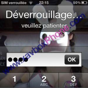 deverouillage carte sim iphone