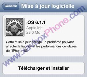 mise à jour iOS 6.1.1